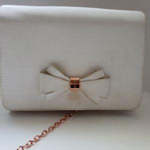 Ted Baker white evening bag